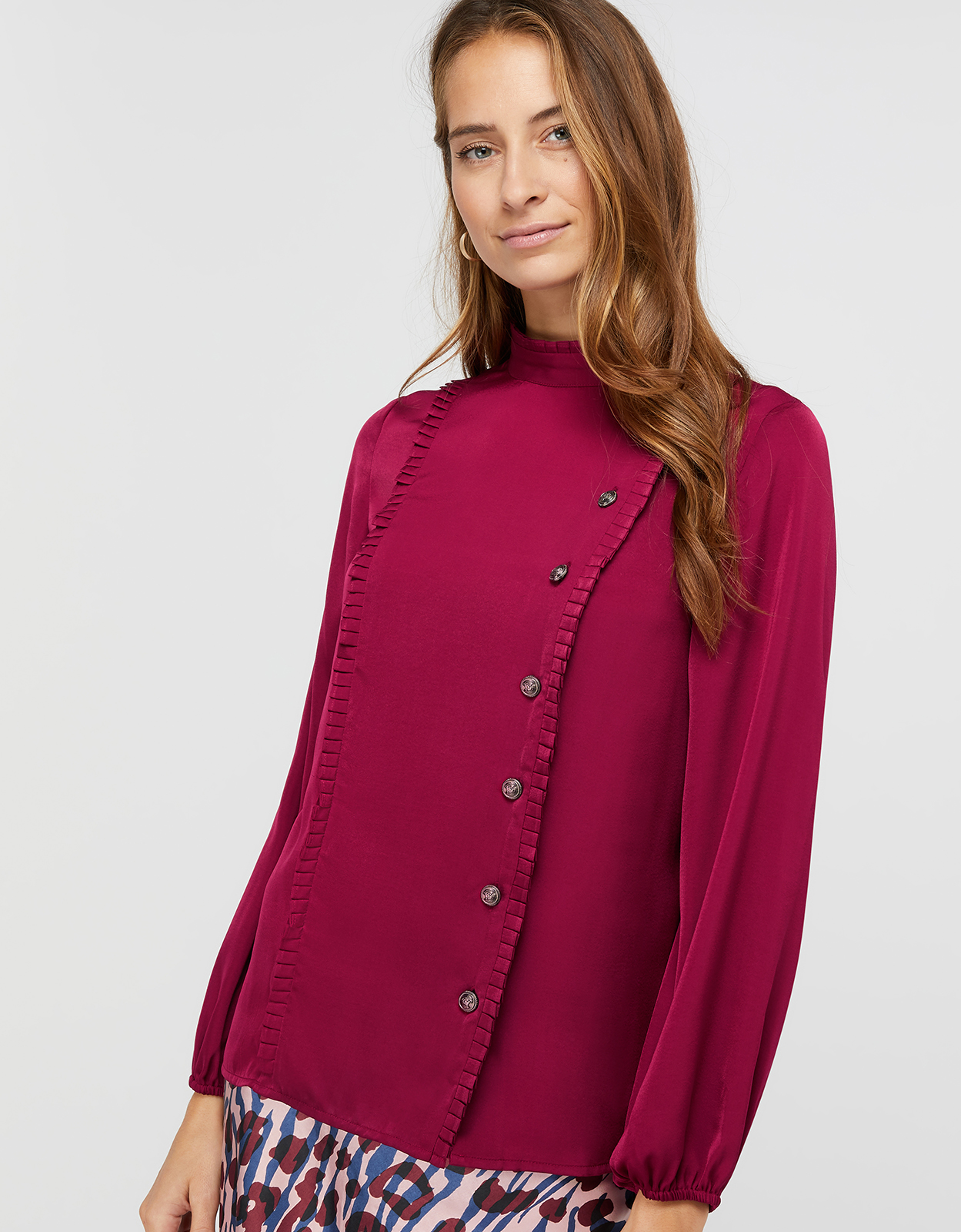 Monsoon MARLOW MILITARY SATIN BLOUSE