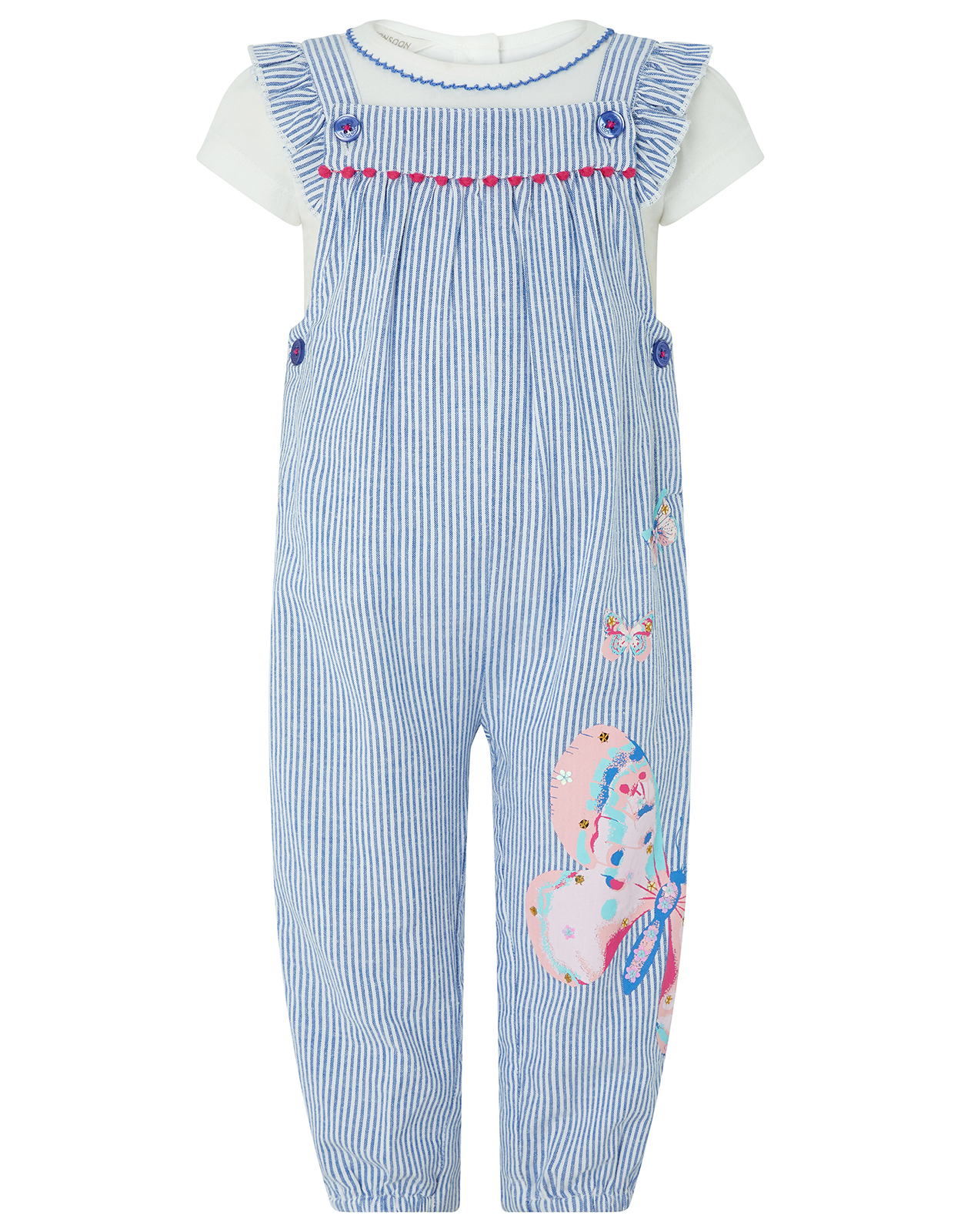 Monsoon Baby Delilah Dungarees Set
