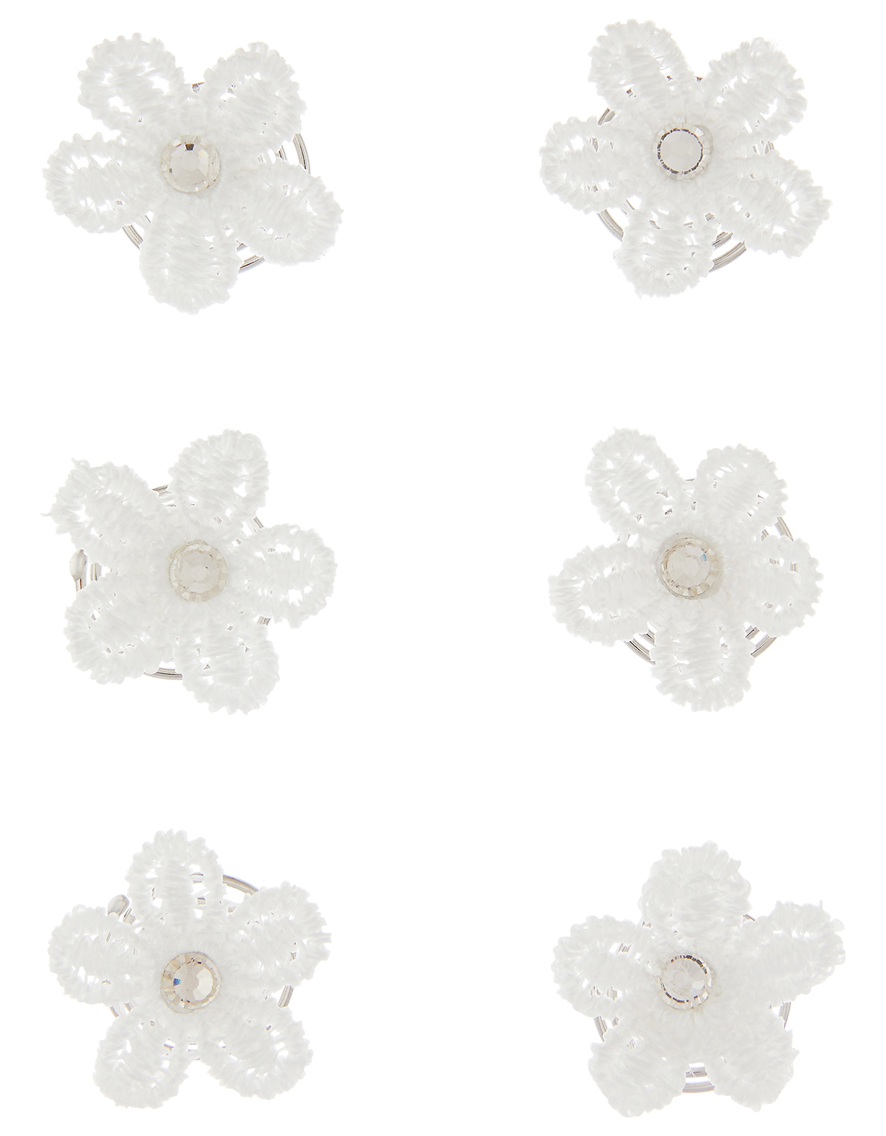 Monsoon 6x Lacey Flower Hair Jewels