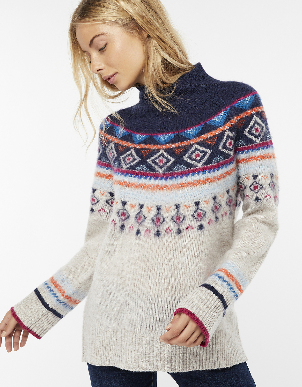 Monsoon Melissa Multicoloured Fair Isle Jumper