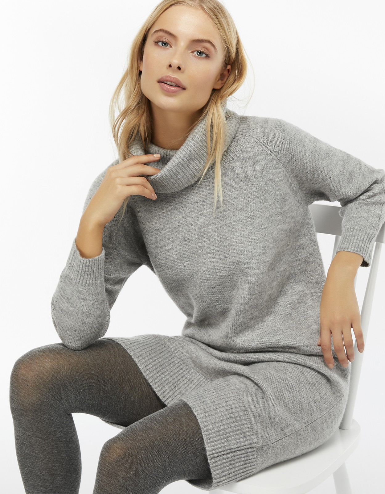 Monsoon Cally Cowl Neck Jumper Dress