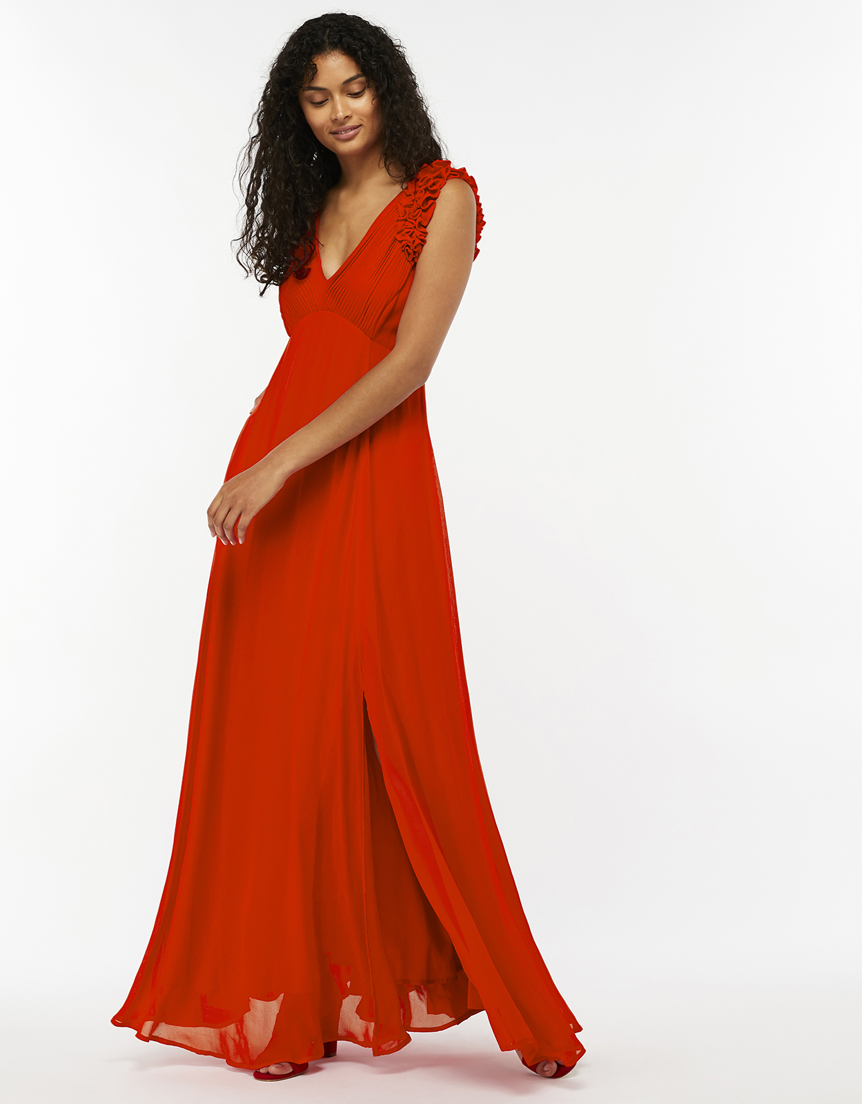 Monsoon Alanis Pleat Maxi Dress