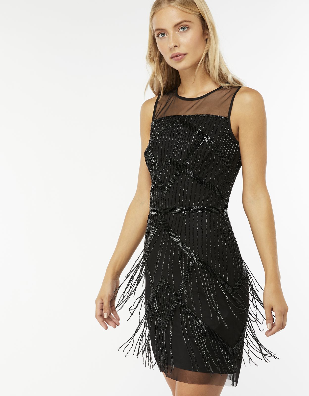 Monsoon Tori Fringe Short Dress