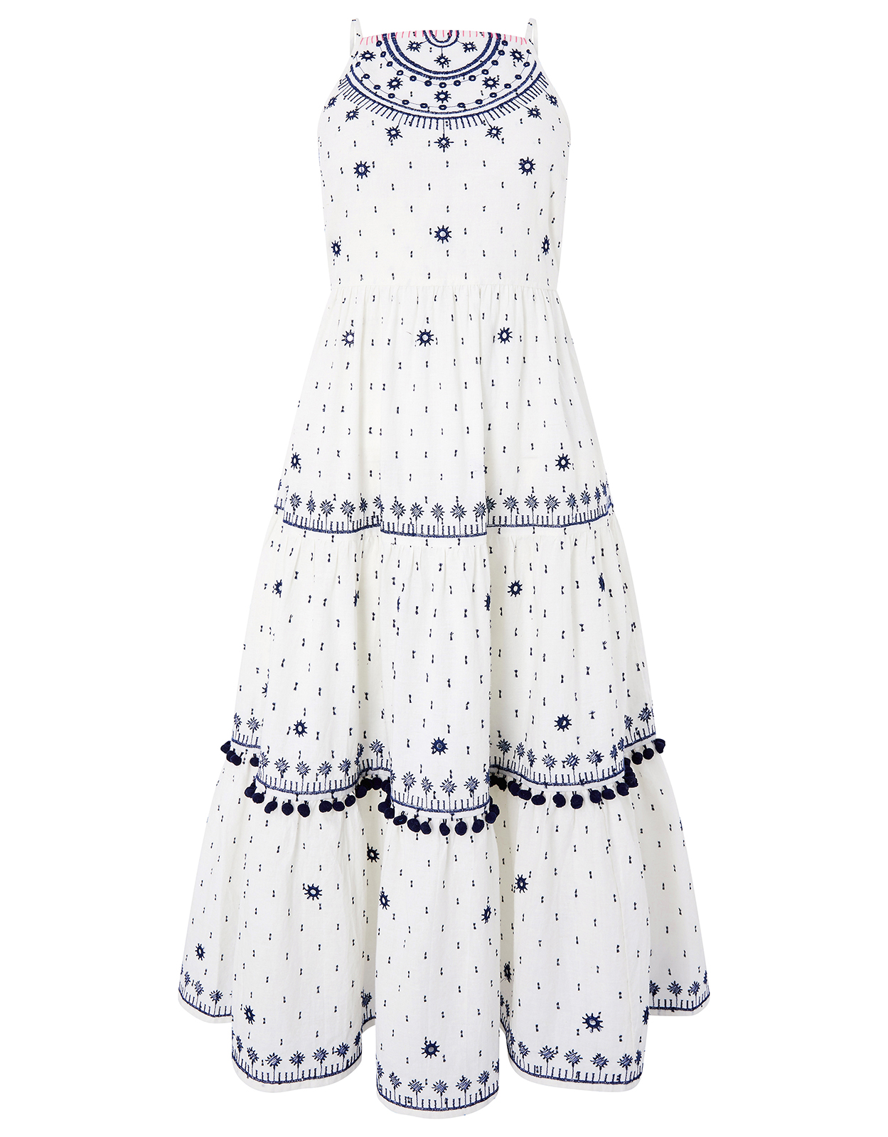 Monsoon Penelope Embroidered Mirror Dress
