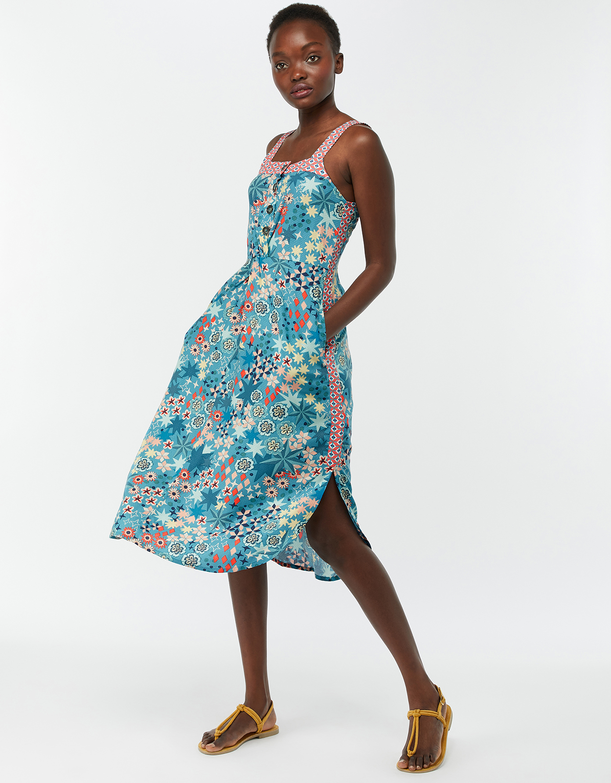 Monsoon Diego Print Midi Dress