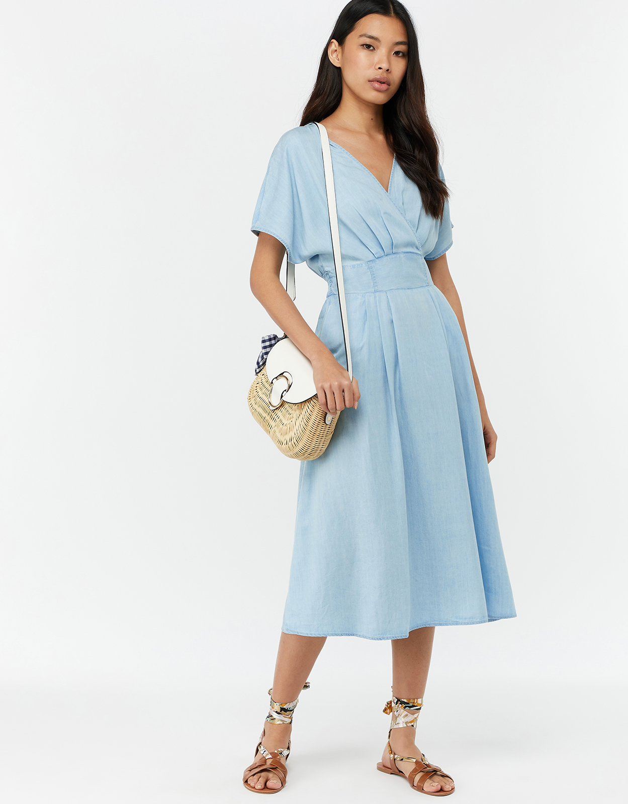 Monsoon Talia Lyocell Midi Dress