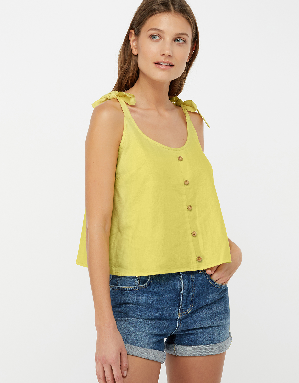 Monsoon Primrose Linen Cami Top