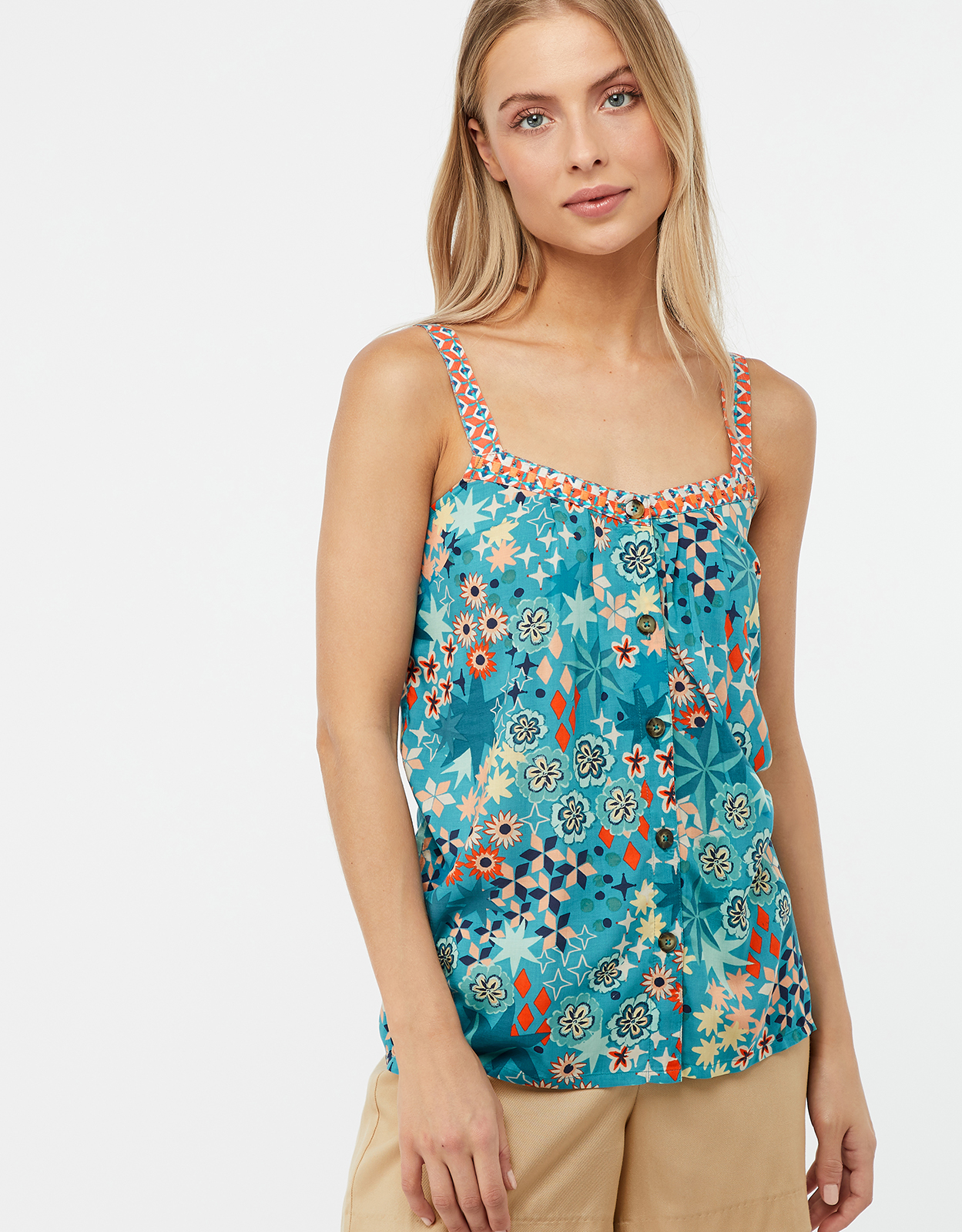 Monsoon Diego Mixed Print Cami Top