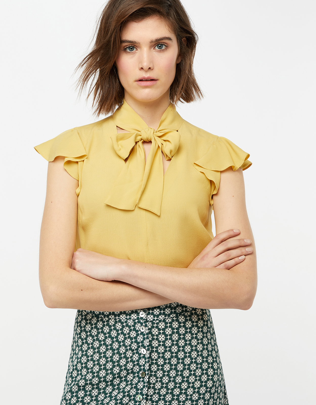 Monsoon Clarissa Tie Neck Top